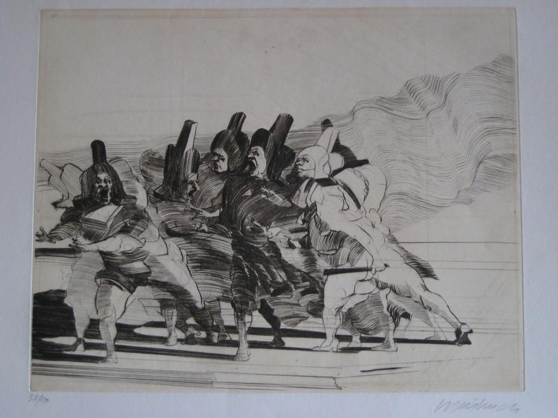 Claude WEISBUCH - Print-Multiple - GRAVURE SIGNÉE AU CRAYON NUM/100 HANDSIGNED NUMB/100 ETCHING