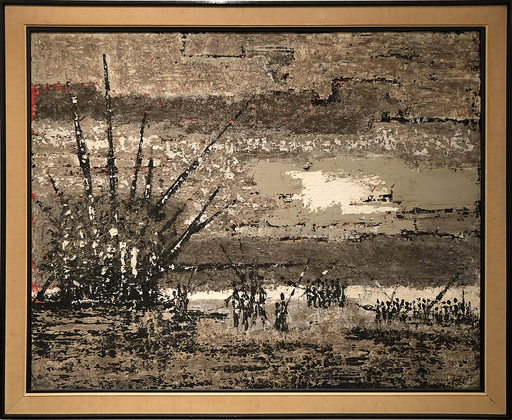 Bernard QUENTIN - Painting - Bataille