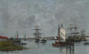 Eugène BOUDIN - Pintura - Port d'Anvers