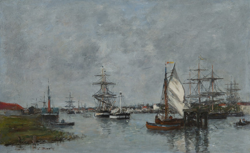 Eugène BOUDIN - Pittura - Port d'Anvers