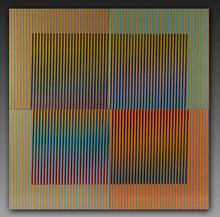 卡洛斯•克鲁兹-迭斯 - 陶瓷  - Tableau en 4 pieces