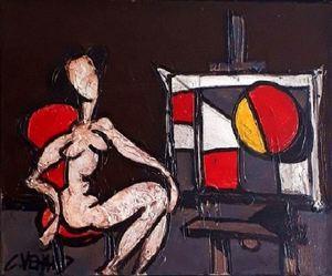 Claude VENARD - Pittura - Le Modèle