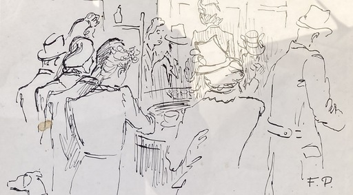 Felicia PACANOWSKA - Zeichnung Aquarell - Café