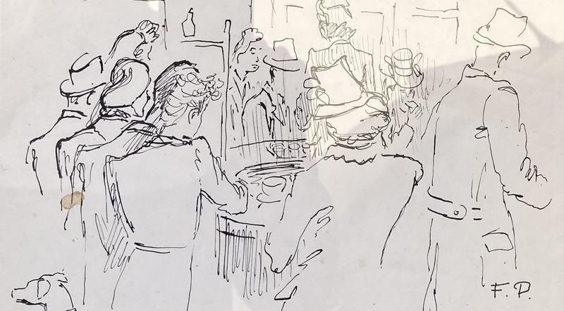 Felicia PACANOWSKA - Drawing-Watercolor - Café