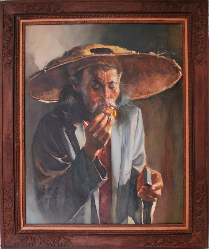 K.S. YADI - Painting - Smoker