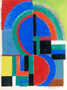 Sonia DELAUNAY-TERK - Drawing-Watercolor - Composition