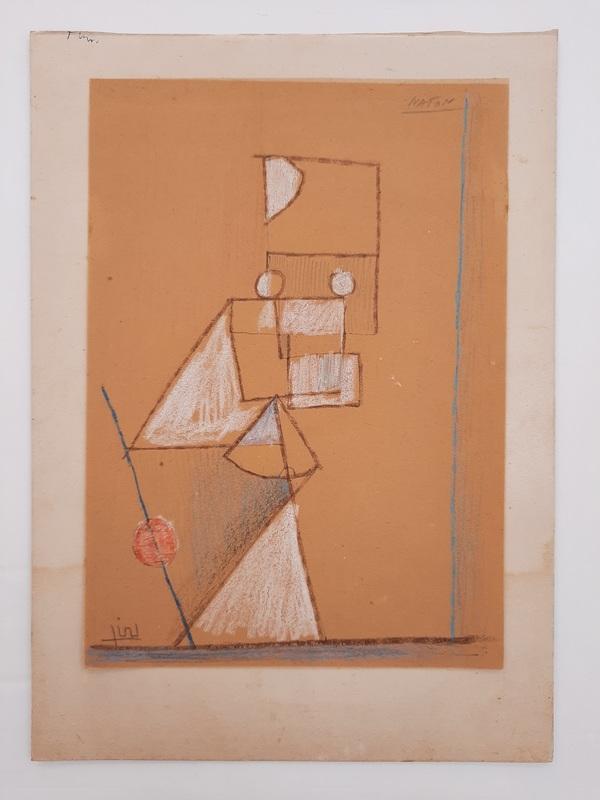 Avraham NATON - Drawing-Watercolor - Figure Composition