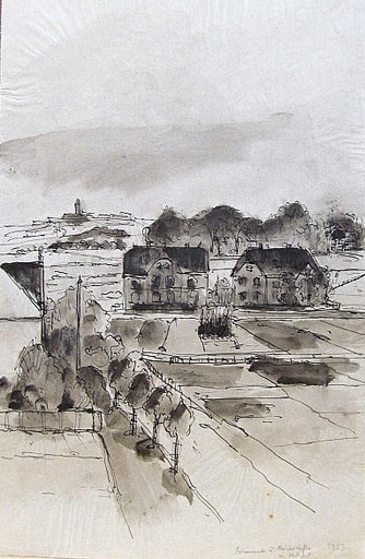 Friedrich EINHOFF - Drawing-Watercolor - #20000: Gelsenkirchen - Heßler