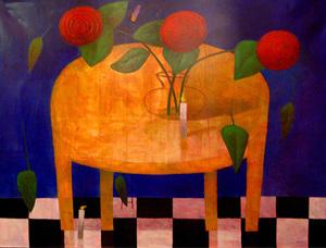Jorge VALLEJOS - Painting - Flower Ritual II