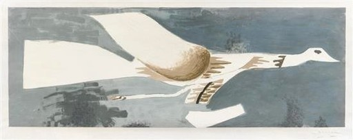 Georges BRAQUE - Stampa-Multiplo - Grand Oiseau Gris