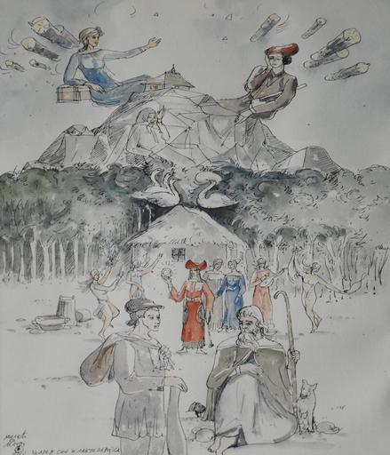 Milic OD MACVE - Peinture - Carev Sin i Labud Devojka