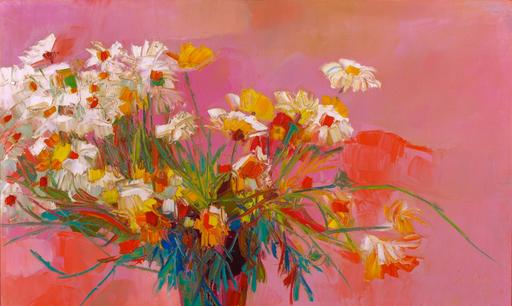 Nicola SIMBARI - Pintura - Pink and Gold