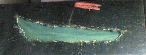 Alex KREMER - Pintura - Boat and Flag