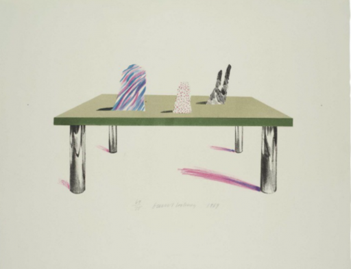 David HOCKNEY - Print-Multiple - Glass Table with Objects