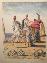 Giorgio DE CHIRICO - Grabado - I cavalli di Achille, 1971