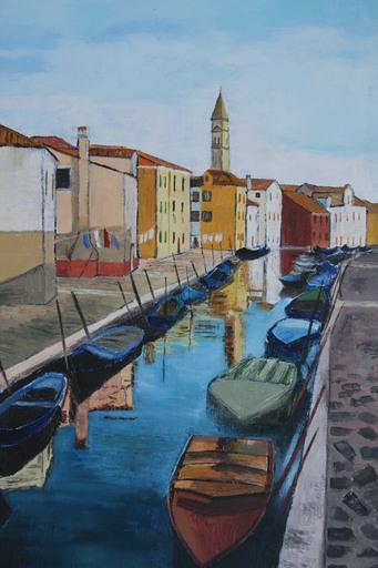 Monique DEVALOIS - Peinture - Burano (Venise)