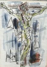 "GEN PAUL - Drawing-Watercolor - ""christ"""
