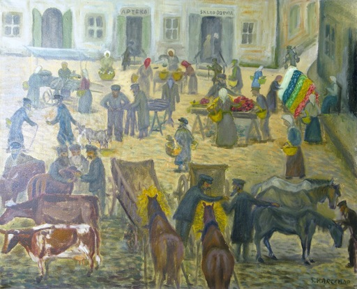 Simon Natan KARCZMAR - Pintura - *The Market