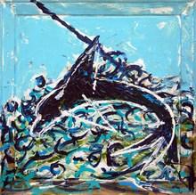 Mario SCHIFANO - Peinture - senza titolo (delfino)