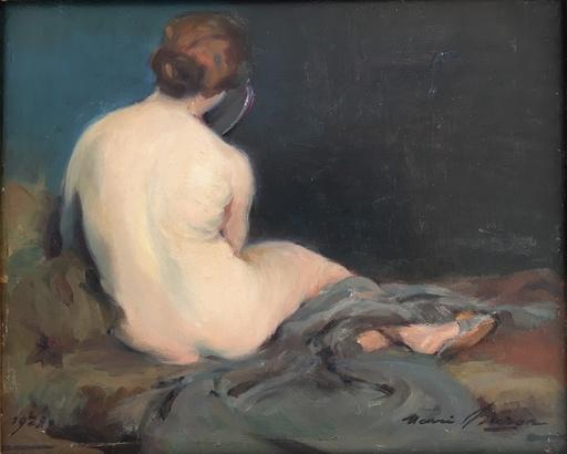 Henri BURON - Gemälde - NU ASSIS DE DOS