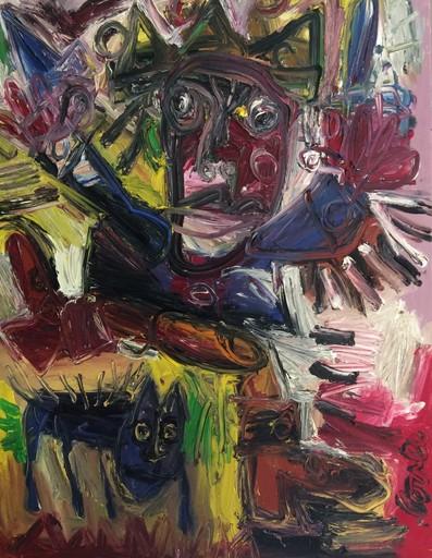 Thierry LOULÉ - Pintura - Combat effarouché