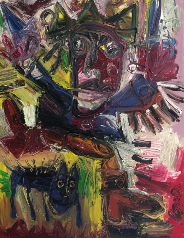 Thierry LOULÉ - Painting - Combat effarouché