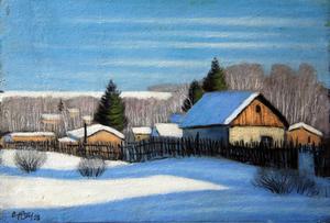 Valeriy NESTEROV - Painting - Nekrasovka. Moscow region
