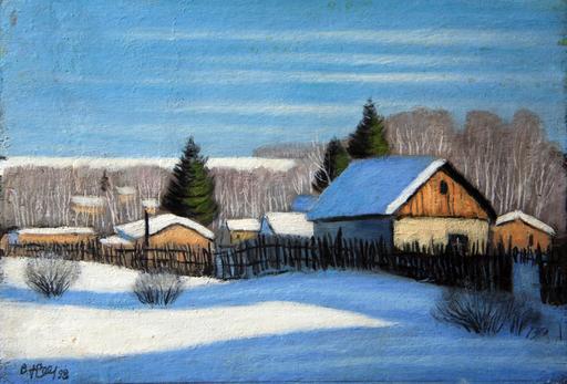 Valeriy NESTEROV - Gemälde - Nekrasovka. Moscow region