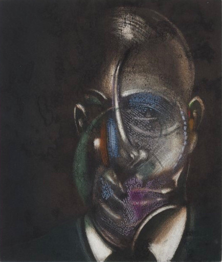 Francis BACON - Grabado - Portrait de Michel Leiris