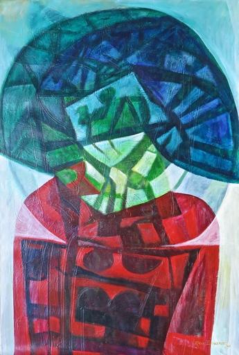Raul Enmanuel POZO - Pintura - Formas en rojo y azul II