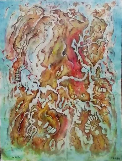 Erich GARGERLE - Zeichnung Aquarell - La valse