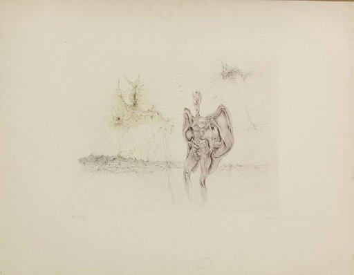 Hans BELLMER - Grabado -  La Chauve-souris
