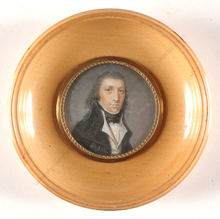 "Michel THOUESNY - Miniatura - ""Monsignor Mollais, Girondist from Bordeaux"", miniature on i"