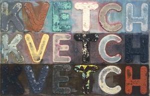 Mel BOCHNER - Peinture - Kvetch, Kvetch, Kvetch