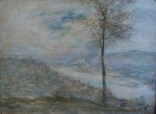 Jean-François RAFFAELLI - Pintura - Fiume Allegheny a Pittsburgh