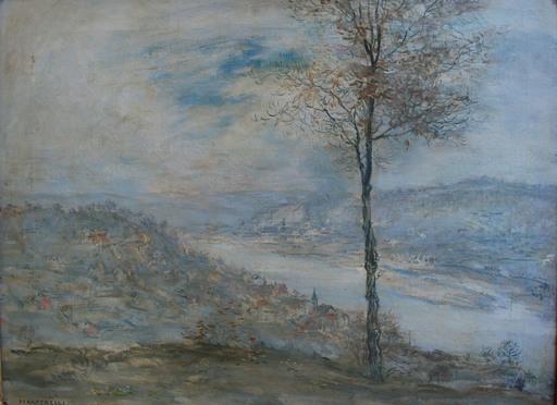 Jean-François RAFFAELLI - Gemälde - Fiume Allegheny a Pittsburgh
