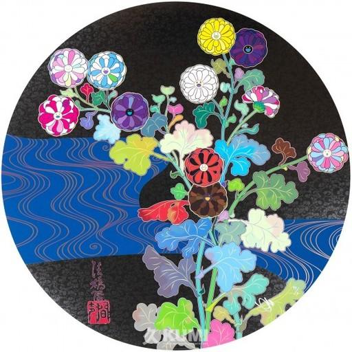 Takashi MURAKAMI - Grabado - Korin: Azure River