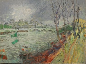 Jean FUSARO - Pintura - CHEMIN DE HALAGE PARIS