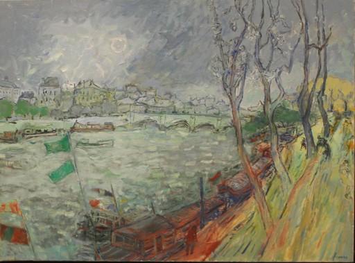 Jean FUSARO - 绘画 - CHEMIN DE HALAGE PARIS