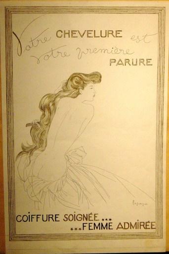 Georges LEPAPE - Zeichnung Aquarell - maquette originale de publicité