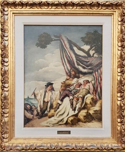 José María SERT Y BADIA - Painting - La sieste de moissonneurs