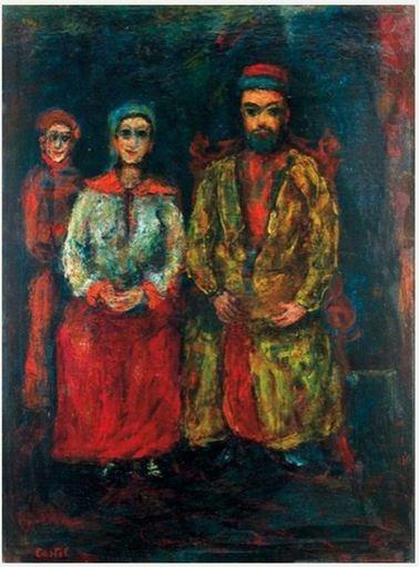 Moshé Elazar CASTEL - Painting - Artist's Family