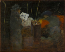 Pierre BONNARD - Peinture - Personnage dans la rue