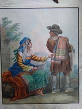 Bartolomeo PINELLI - Dibujo Acuarela - Costume