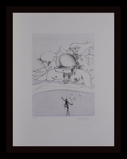 Salvador DALI - Grabado - After 50 Years Of Surrealism Flung Out Like A Fag