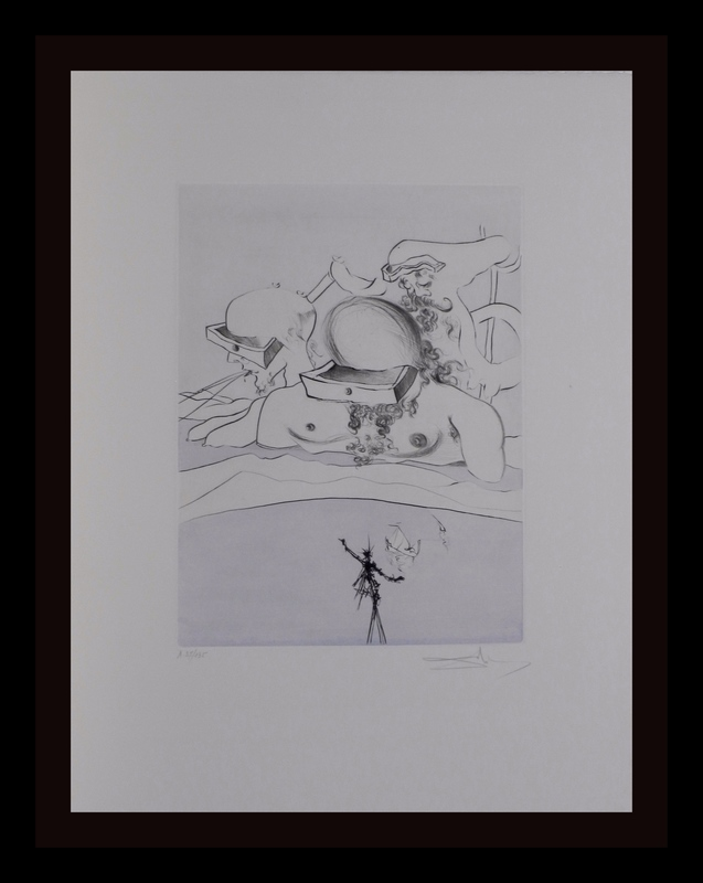 Salvador DALI - Estampe-Multiple - After 50 Years Of Surrealism Flung Out Like A Fag