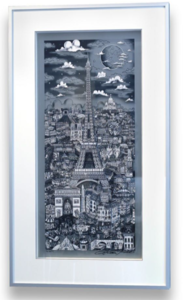 Charles FAZZINO - Druckgrafik-Multiple - Midnight in Paris