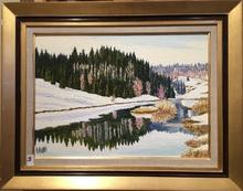 Raymonde AUBRY - Painting - Les bords du Doubs à Remonot
