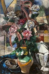 Auguste HERBIN - Painting - Les roses