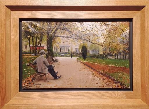 Santiago RUSIÑOL Y PRATS - Gemälde - Parque Moncieau París